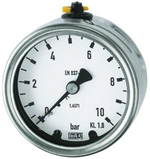 ID: 101201 - Manometer, CrNi-Stahl, G 1/4 hinten zentrisch, 0 - 10,0 bar, Ø 63