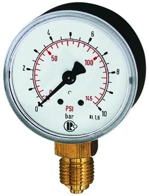 ID: 101655 - Standardmanometer Kunststoff, G 1/8 unten, 0 - 10,0 bar/145 psi, Ø 40