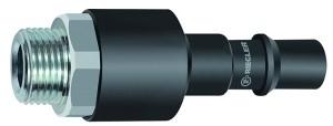 ID: 141795 - Nippel mit RSV für Kupplungen NW 11, ISO 6150 C, Stahl, G 1/2 AG