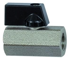 ID: 115727 - Mini-Kugelhahn »valve line«, MS vern., Drehgriff, G 1/4 IG