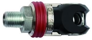 ID: 141686 - Schwenk-Sicherheitskupplung NW 8, ISO 6150 C, Stahl, G 3/8 AG
