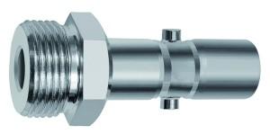 ID: 141801 - Nippel f. Kuppl. NW 11, schwere Reihe, 2-stufig, Stahl, G 3/8 AG