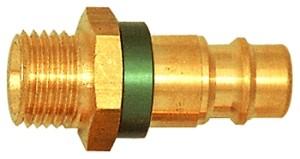 ID: 107686 - Unverwechselbarer Nippel NW 7,8, Messing blank, G 3/8 AG, grün