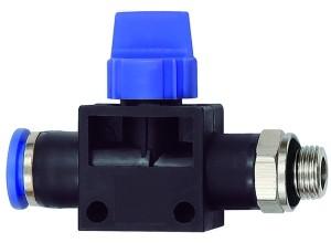 ID: 110138 - 3/2-Wegeventil »Blaue Serie«, Steckanschluss, G 3/8 a., S-G Ø 6mm