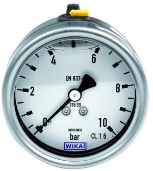 ID: 134025 - Glyzerinmanometer CrNi-Stahl, G 1/4 hinten zentrisch, 0-4,0 bar, Ø 63