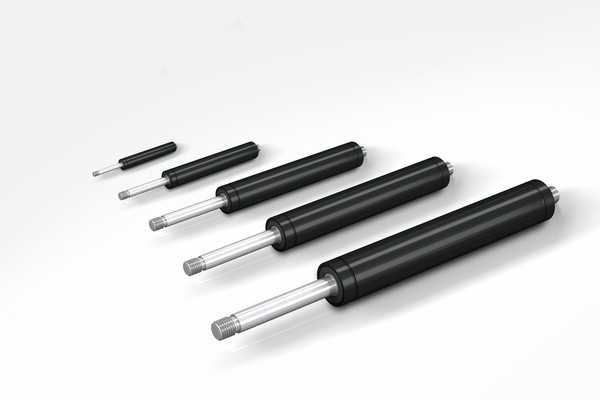 Industrie-Gasfeder, 8 mm Kolben-Durchm., 20 mm Hub