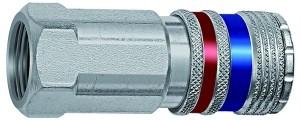 ID: 107592 - Sicherheitskupplung NW 7,6, Stahl/Messing verzinkt, G 1/4 IG
