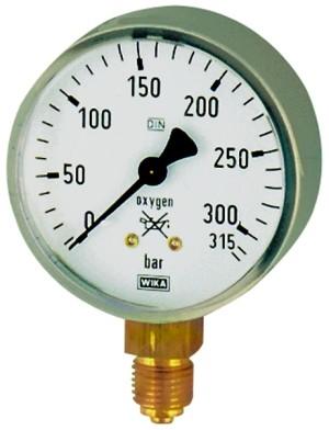 ID: 101296 - Manometer Sauerstoff, G 1/4 radial unten, 0 - 400 bar, Ø 63 mm