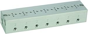 ID: 106656 - Reihengrundplatte 7-fach, M5 für Mini-Magnetventile 15 mm