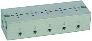 ID: 106654 - Reihengrundplatte 5-fach, M5 für Mini-Magnetventile 15 mm