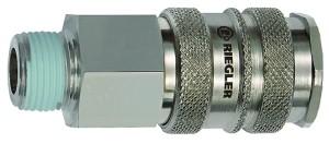 ID: 141553 - Schnellverschlusskupplung NW 10, Stahl / Messing vern., R 3/8 AG