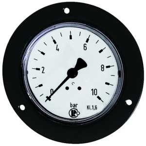 ID: 101891 - Standardmanometer, Frontring schwarz, G 1/4 hinten, 0 - 1,6 bar, Ø 50