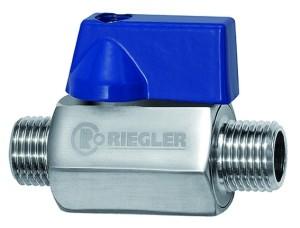 ID: 103495 - Mini-Kugelhahn, Edelstahl 1.4401, AG/AG, G 1/4, DN 7