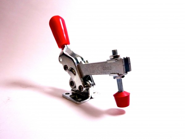 Vertikal-Kniehebelspanner u-Spannarm, Fuß abgewinkelt