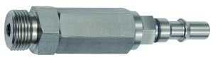 ID: 141915 - Unverwechselbarer Nippel NW 6, ISO 6150 C, RSV, G 3/8 AG, grau