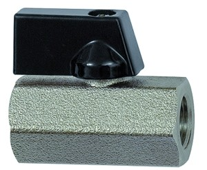 ID: 115728 - Mini-Kugelhahn »valve line«, MS vern., Drehgriff, G 3/8 IG