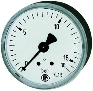 ID: 101812 - Standardmanometer, Stahlblechgeh., G 1/8 hinten, 0-1,6 bar, Ø 40
