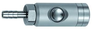 ID: 134062 - Druckknopf-Sicherheitskupplung NW 5,5, drehbar, Alu, Tülle LW 13