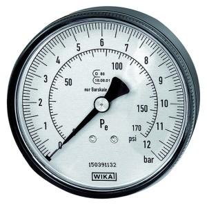 ID: 136795 - Manometer ø 80 mm, ungeeicht, Anschluss hinten