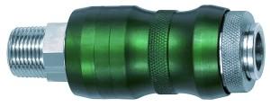 ID: 134075 - Sicherheitskupplung NW7,8, Bi-Tec, MS vern., R 3/8 AG, 2050 l/min