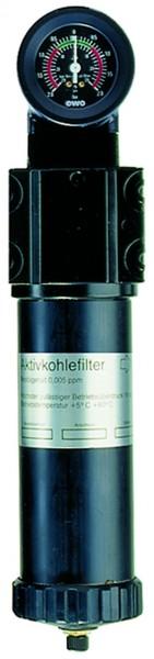 ID: 101579 - Aktivkohlefilter mit Differenzdruckmanometer, 0,005 mg/m³, G 3/4
