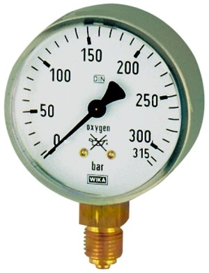 ID: 101299 - Schweißtechnikmanometer Stahl, acetylene, G 1/4 unten, 0-2,5 bar, Ø63