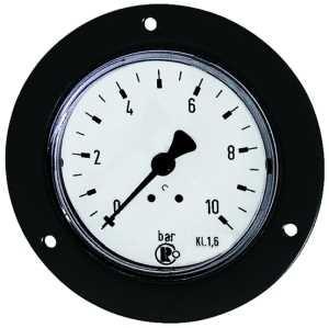 ID: 101907 - Standardmanometer, Frontring schwarz, G 1/4 hinten, 0-16,0 bar, Ø 63