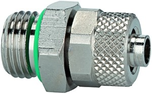 ID: 110512 - Gerade Einschraubverschraubung, FKM O-Ring, G1/8 a., Schlauch 6/4