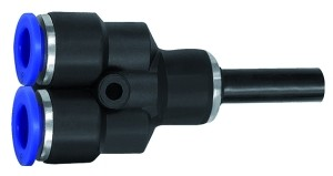 ID: 135774 - Y-Steckverbindung, Stecknippel 12 mm »Blaue Serie« Schl.-Ø 8, KS