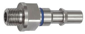 ID: 141894 - Unverwechselbarer Nippel NW 6, ISO 6150 C, G 1/4 AG, blau