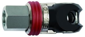 ID: 141682 - Schwenk-Sicherheitskupplung NW 8, ISO 6150 C, Stahl, NPT 1/4 IG