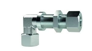 ID: 159242 - Winkel-Schottverschraubung, Rohr-Außen-Ø 20 mm, Stahl verzinkt