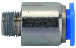 ID: 135634 - Gerade Steckverschraubung »Blaue Serie«, rund, R 1/2 außen Ø 14mm