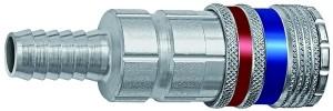 ID: 107597 - Sicherheitskupplung NW 7,6, Stahl/Messing verzinkt, Tülle LW 9