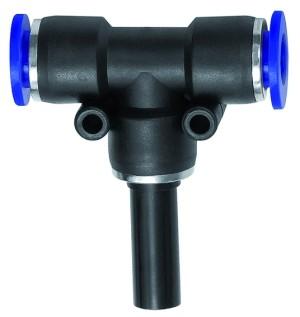 ID: 135782 - T-Steckverbindung, Stecknippel 6 mm »Blaue Serie«, Schlauch-Ø 4