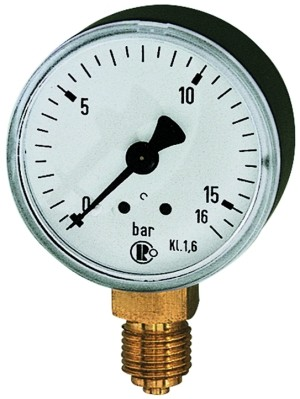 Standardmanometer, Stahlblechgeh., G 1/4 unten, 0