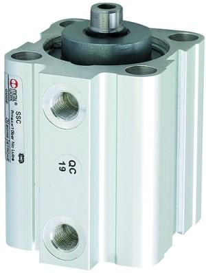 ID: 105956 - Kurzhubzylinder, einfachwirkend, Magnet, Kolben-Ø 20, Hub 10, M5