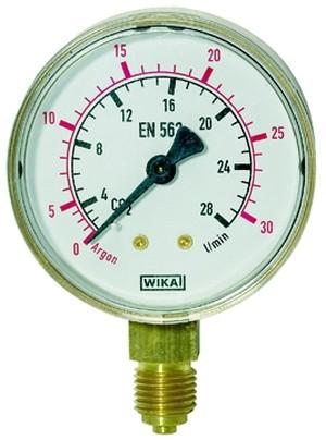 ID: 101294 - Manometer Sauerstoff, G 1/4 radial unten, 0 - 20/40 bar, Ø 63 mm