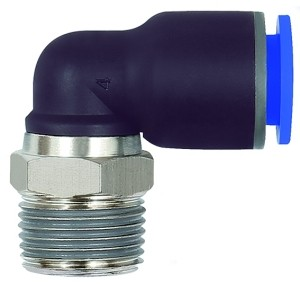 ID: 135641 - L-Steckverschraubung »Blaue Serie«, drehbar, R 1/2 außen, Ø 14 mm