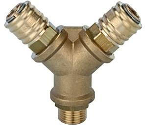 ID: 107256 - Verteiler mit 2 Schnellverschlusskupplungen NW 7,2, G 1/4 AG