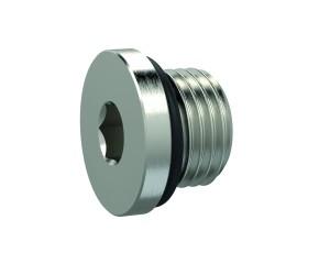 ID: 111408 - Verschlussschraube, Innensechskant 2,5 mm, M5, NBR O-Ring, MSN