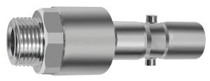 ID: 141808 - Nippel mit RSV für Kupplungen NW 11, 2-stufig, Stahl, G 1/2 AG