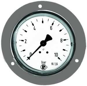 ID: 101875 - Standardmanometer, Frontring verchr., G 1/4 hinten, 0-10,0 bar, Ø 63