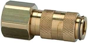 ID: 107071 - Schnellverschlusskupplung NW 2,7, Messing blank, M5 IG