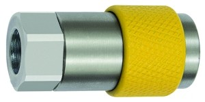 ID: 141861 - Unv. Dreh-Sicherheitskupplung NW 6, ISO 6150 C, G 1/2 IG, gelb