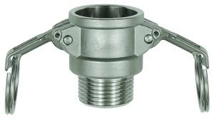 ID: 108111 - Kamlok-Schnellkupplungsdose mit AG, Typ B, ES 1.4401, R 2