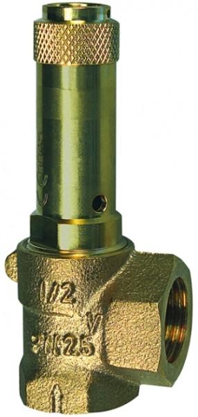 ID: 105531 - Eck-Sicherheitsventil, Flüssigkeiten, G 1/2 Ansprechdruck 2,5 bar