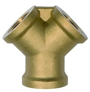 ID: 112605 - Verteiler, 2fach, G 1/2 i., 2 x G 1/2 IG, Messing blank