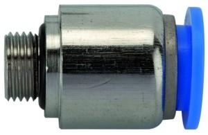 ID: 135631 - Gerade Steckverschraubung »Blaue Serie«, rund, G 3/8 außen Ø 14mm
