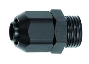 Einschraubverschraubung für PVC-Pneumatikschlauch